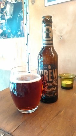 """The very special and intense craft beer called """"R.I.P. barley wine"""". By Crew Republic brewery"""