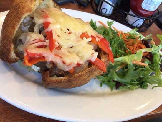 Popover Cafe & Bakery: Steak Sandwich in a Popover