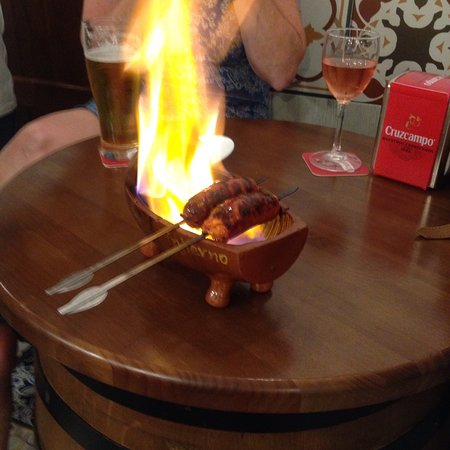 Los Barriles: Now that's what I call a chorizo al infierno!