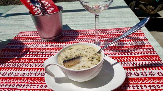 Saas-Almagell, Schweiz: Vegetable soup