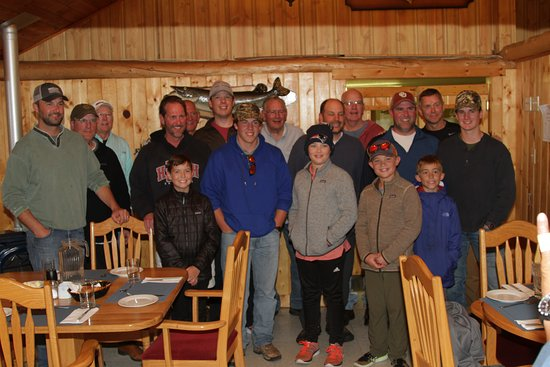 A group of family and friends at Minor Bay Lodge