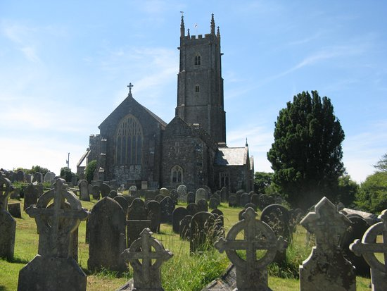 Hartland, UK: St Nectan's and cemetary