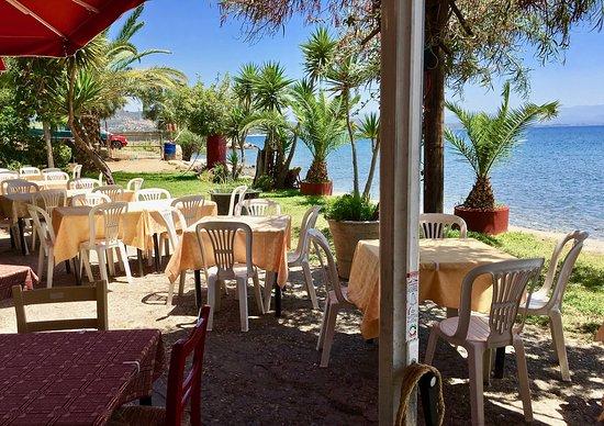 O Barba Sideris Taverna: Bestuhlung im Freien