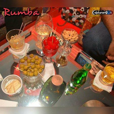 Rumba Deluxe Bar & Lounge Santo Domingo: Snacks / Drinks perfect combination