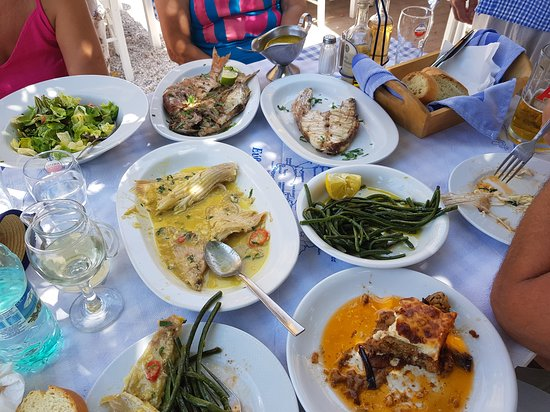 Nea Styra, Greece: Some of our dishes today