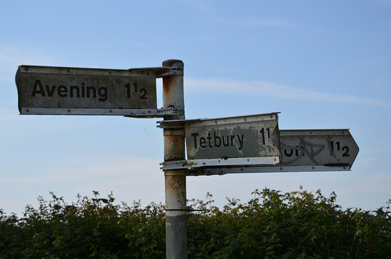 Tetbury, UK: local direction sign