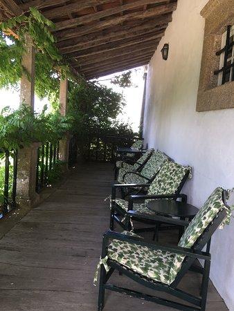 Vilarinho de Sao Romao, Portugal: the terrace