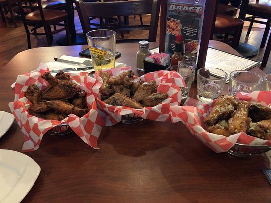 The Draft Sports Bar & Grille: Peanut Butter, Teriyaki and Parmesan/Garlic Wings