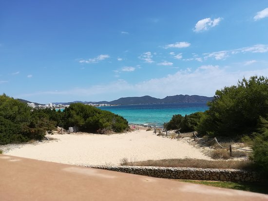 Iberostar Cala Millor: Blick von den oberen Liegeflächen zum Meer