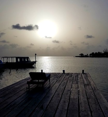 St. George's Caye, Belize: Sunset from Front Porch