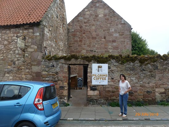 Pilgrims Coffee House & Roastery: One of two entrances to the cafe.