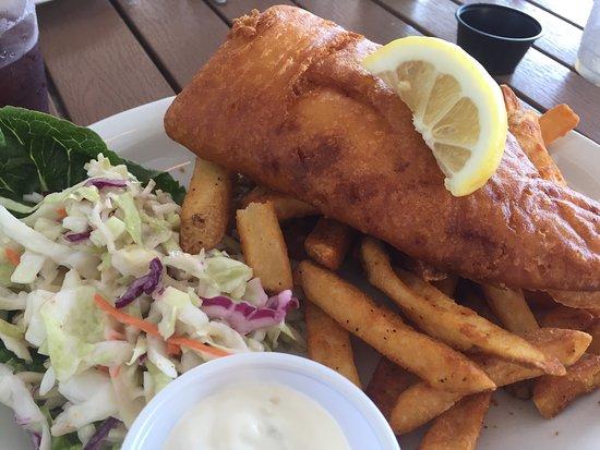 The Beachead Restaurant: Freshly breaded haddock for tasty fish & chips