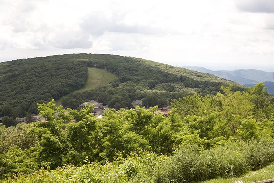 Wintergreen Resort: One of the ski runs in the background.