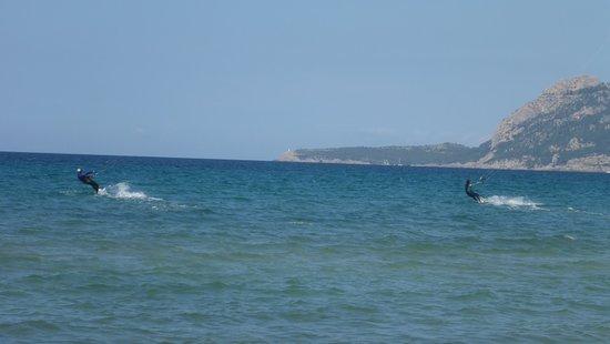 Kitesurfing Club Mallorca: kite racing Mallorca Flysurfer kite SOUL in Pollensa Bay