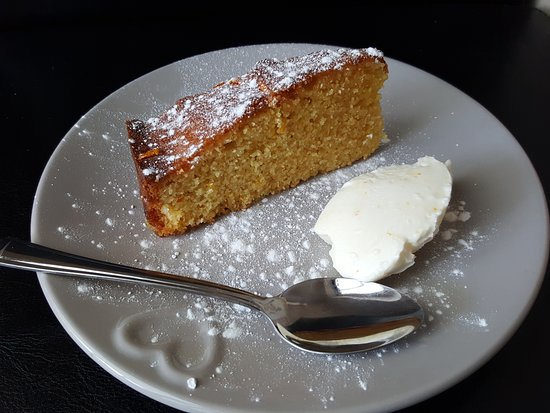 Little Pantry: orange and polenta cake with mascapone.