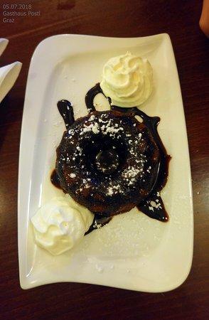 Gasthaus Postl: Превосходный шоколадный десерт