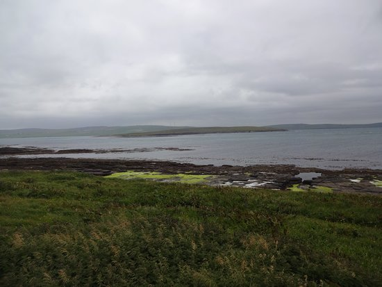 Rousay, UK: View over bay