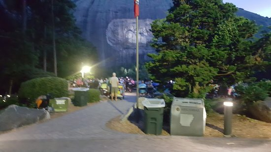 Stone Mountain Carving: Waiting for the laser show
