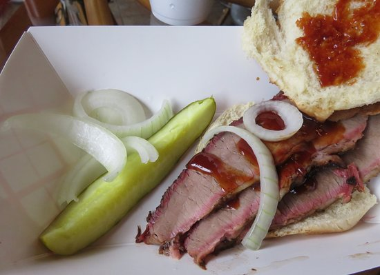 Summertown, TN: Brisket sandwich