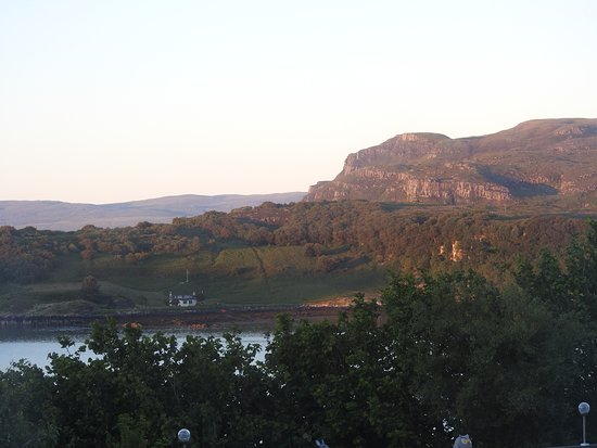Greenacres Guest House: View from our bedroom at sunset (11:00 at night!)