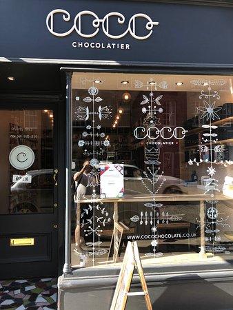 Coco Chocolatier - Stockbridge: The exterior of Coco.