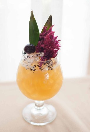 Iris Food and Spirits: 'Crash Course in Hedonism' - Aged Rums, Grilled Pinepple, Black Sesame, Smoked Lime.