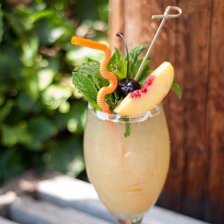 Iris Food and Spirits: 'Haole's Downfall' - Rum Blend #1, White Peach, Fino Sherry, Citrus