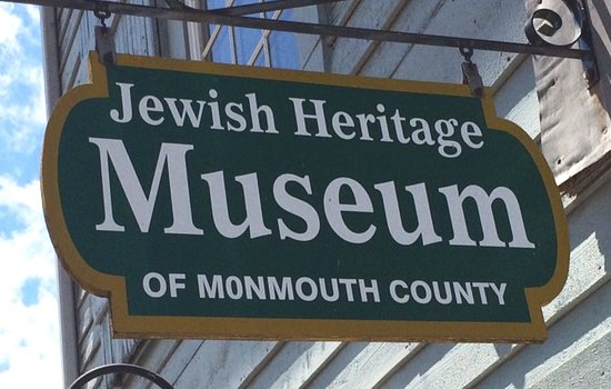 Sign above door to Museum in Freehold