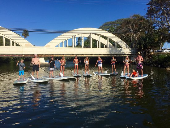Haleiwa, HI: Family Stand up paddle board tour