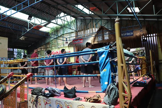 Master Toddy's Muay Thai: Warming up for the class