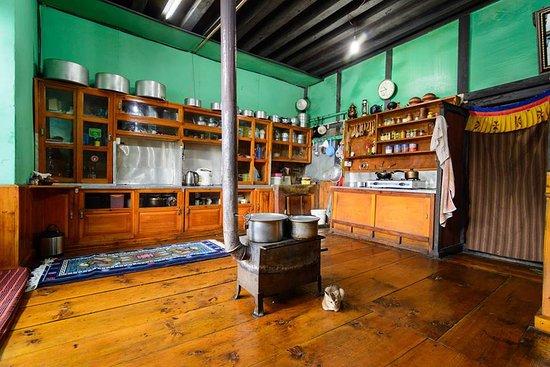 Haa District, Bhutan: Kitchen and Dinning room at Ugyen Homestay