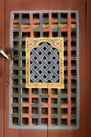 Haa District, Bhutan: Door picture