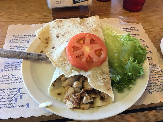 Norske Nook - Rice Lake: Salmon Lefse (come with soup or chili, and cole slaw)