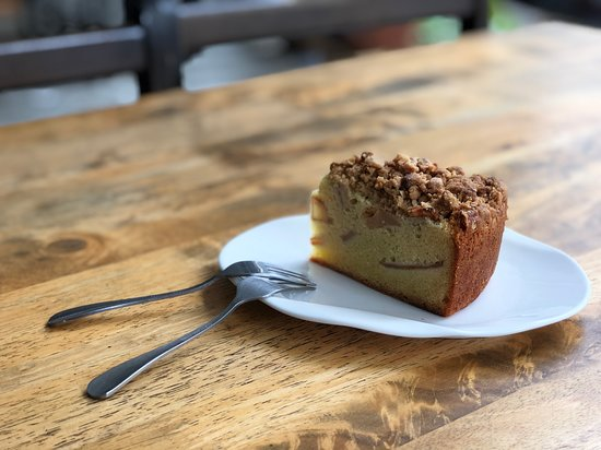 Apple Crumble Cake Picture Of Just Caffe George Town Tripadvisor