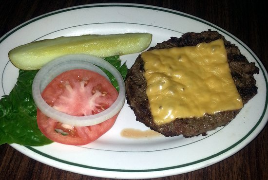 The Bringer Inn : a half pound burger with American cheese, but without the bun