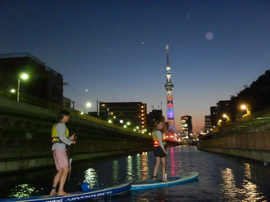 Outdoor Sports Club ZAC: 夜景SUPツアー(Night SUP tour)