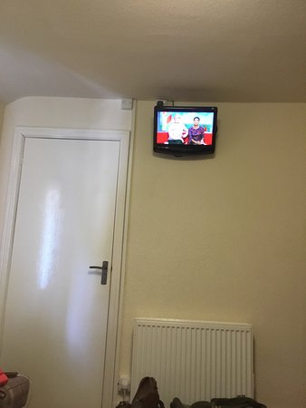 Over Haddon, UK: The 'flat screen' TV in our 'newly refurbished room