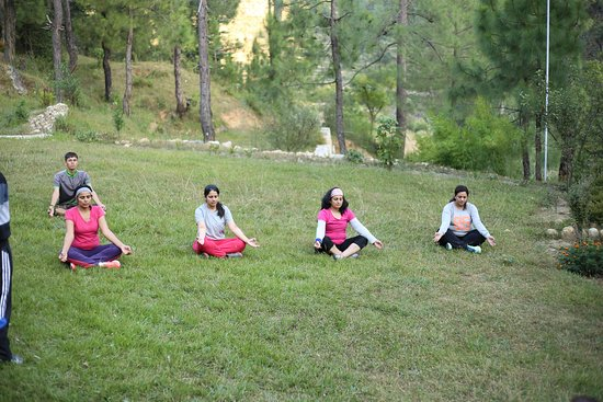 Yoga session for a all Women's Trip conducted at Kosi Valley Retreat