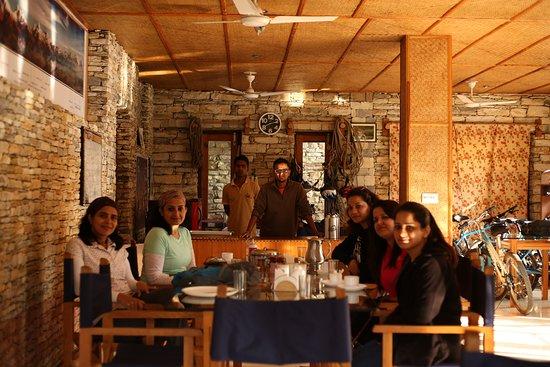 Kosi Valley Retreat: Clients enjoying meal at dinning hall at KVR