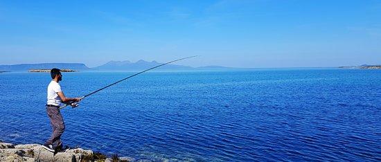 Morar, UK: Good day for fishing.