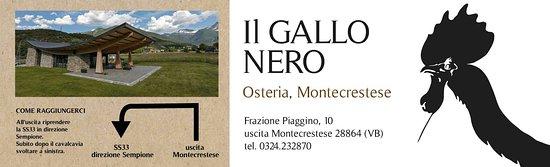 Montecrestese, Italien: Gallo Nero Osteria