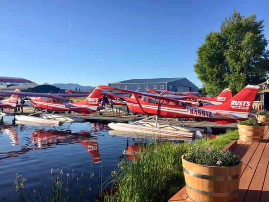 Rust's Flying Service on Lake Hood