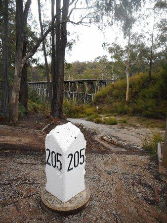 Nowa Nowa, Australia: Trestle Bridge Mile post