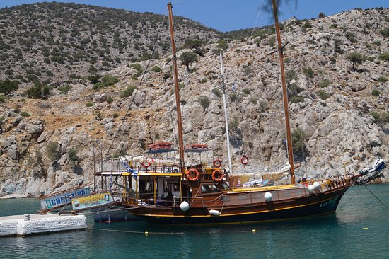 The boat picture of archangelos michael sailing kos town