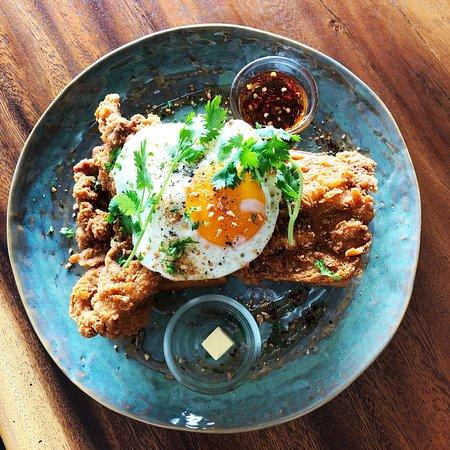 Outstanding fried chicken n waffles!