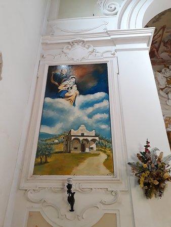 Santuario di Croci: affresco interno rappresentante il Santuario