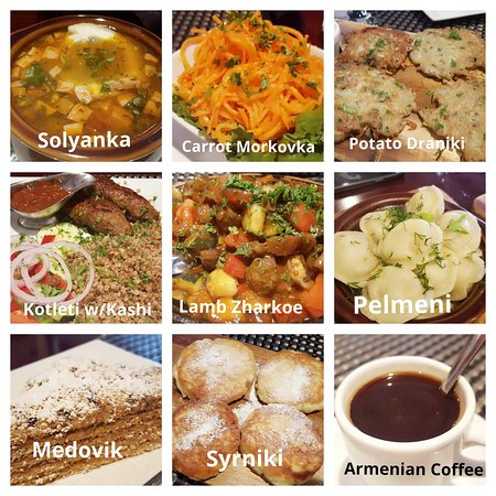 Sand Lake, Flórida: Started with the Solyanka soup and ended with the Armenian Coffee