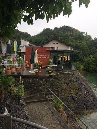 Seerestaurant Beatenbucht: Ansicht vom See