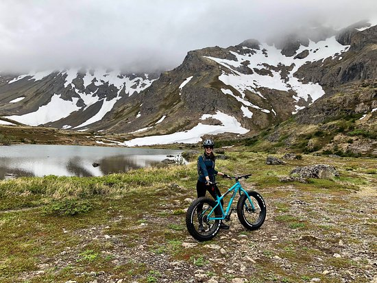 f712ad3b6732 Fat Tire Biking in Chugach State Park Tour  Halfway point of our fat tire  mountain