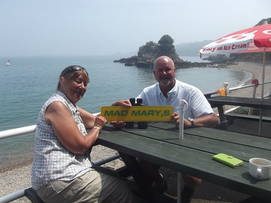 Mad Mary's Bouley Bay Beach Cafe: myself and mad mary 2 (the misses)